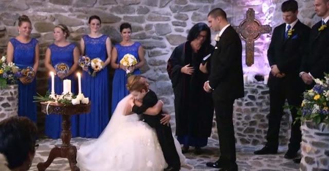 Noiva vê ex do marido durante o matrimónio