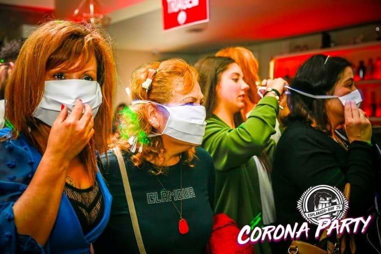 Festa Polémica com o Tema do CORONAVIRUS