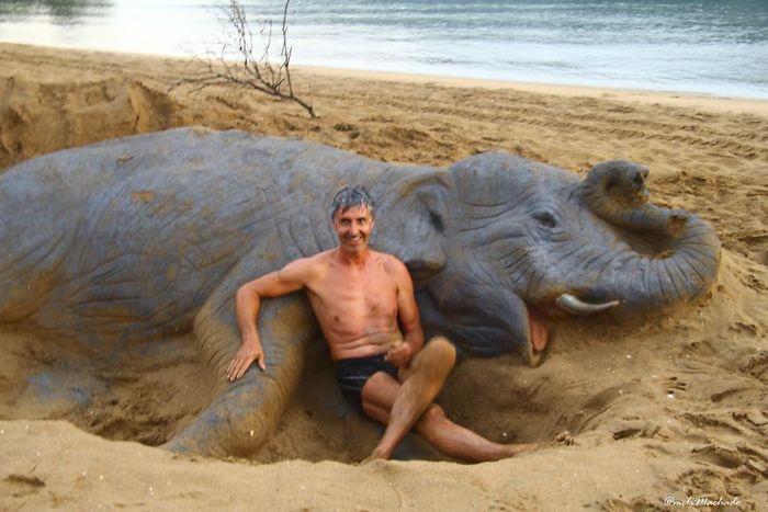 esculturas de areia realistas