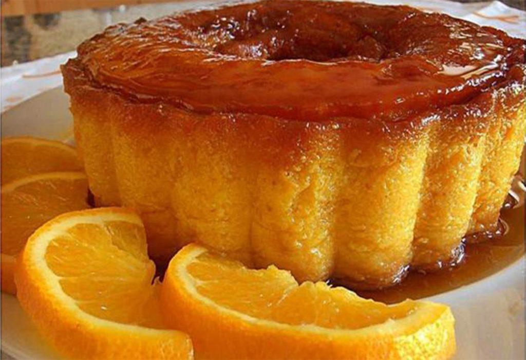 Pudim de laranja sempre delicioso